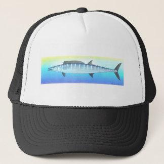 Wahoo fish trucker hat