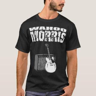 Wahoo Morris T, White on Black: Guitar & Amp T-Shirt
