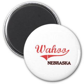 Wahoo Nebraska City Classic 2 Inch Round Magnet