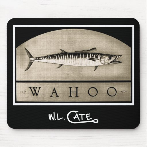 Wahoo Vintage Black & White Mouse Pads