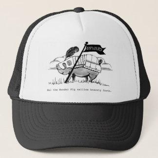 Wai The Pig Cap,  artwork by Charlotte Moore Trucker Hat