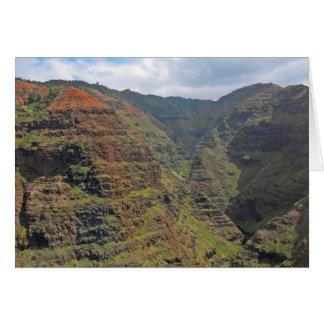 Waiamea Canyon Kauai Greeting Card