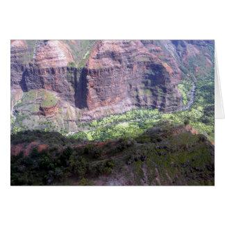 Waiamea Canyon Kauai Card