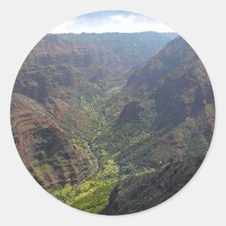 Waiamea Canyon Kauai Classic Round Sticker