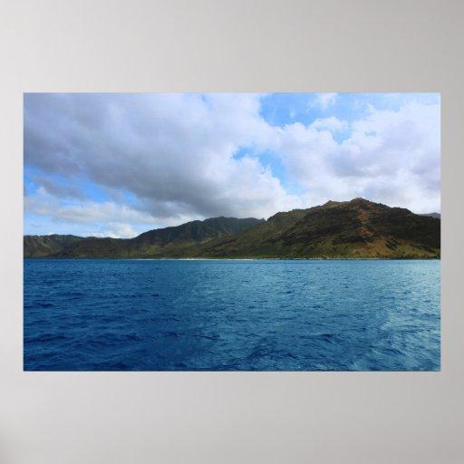waianae oahu coastline posters