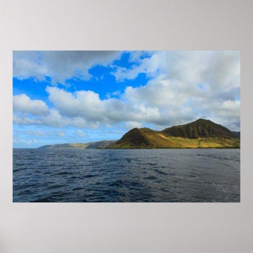 Waianae oahu coastline print