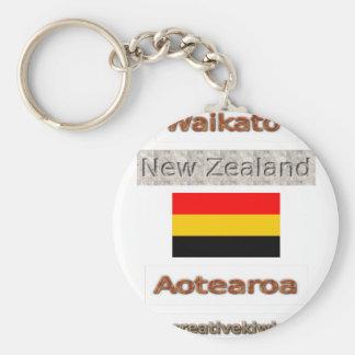 Waikato, Nueva Zelanda Aotearoa Llavero Redondo Tipo Pin