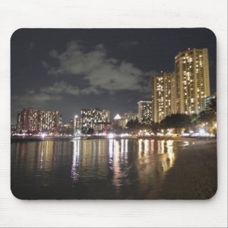 Waikiki at Night Mouse Pad