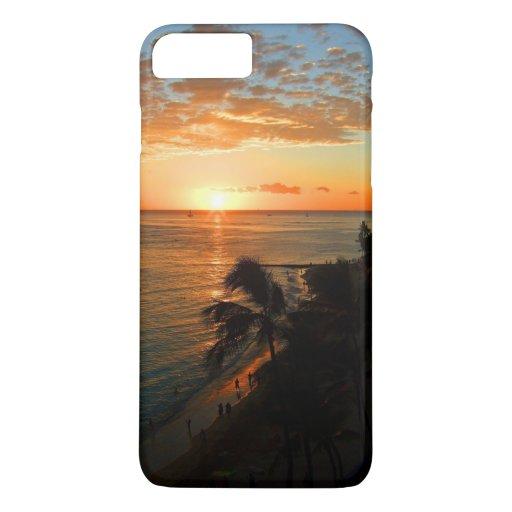 Waikiki Beach at sunset iPhone 8 Plus/7 Plus Case