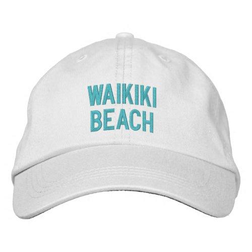 WAIKIKI BEACH EMBROIDERED BASEBALL CAP