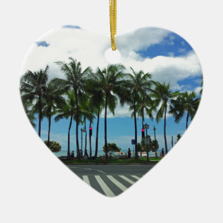 Waikiki Beach Hawaii Ceramic Ornament