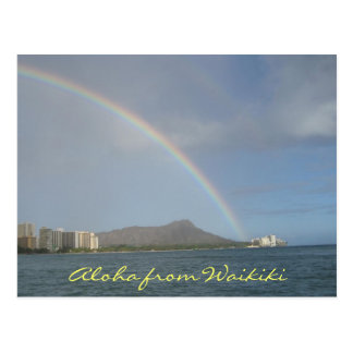 Waikiki Beach, Hawaii Postcard