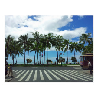 Waikiki Beach Hawaii Postcard