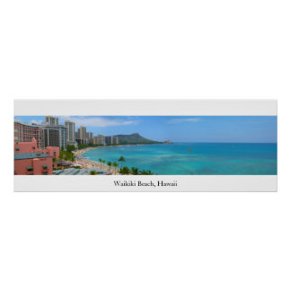 Waikiki Beach, Hawaii Poster