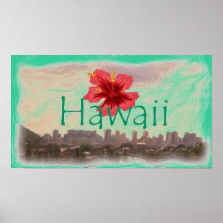 Waikiki Beach Hawaii poster
