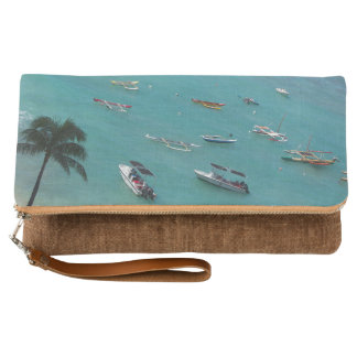 Waikiki Beach Hawaiian Foldover Clutch