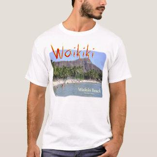Waikiki Beach Honolulu Hawaii with Diamond Head T-Shirt