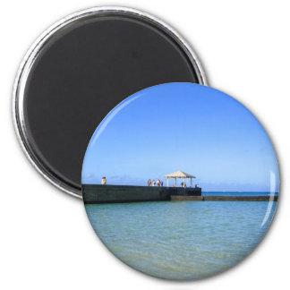 Waikiki Beach, Honolulu, Oahu, Hawaii, USA. Magnet