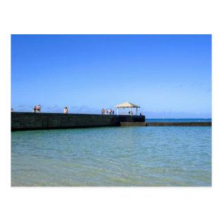 Waikiki Beach, Honolulu, Oahu, Hawaii, USA. Postcard