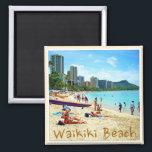 """Waikiki Beach Magnet<br><div class=""""desc"""">Hawaii&#39;s famous Waikiki Beach.</div>"""