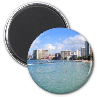 Waikiki Beach, Oahu, Hawaii Fridge Magnets