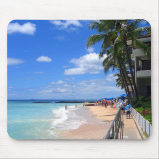 Waikiki Beach, Oahu, Hawaii Mouse Mats