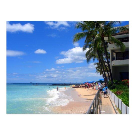 Waikiki Beach, Oahu, Hawaii Postcard