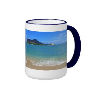 Waikiki Beach Ringer Mug