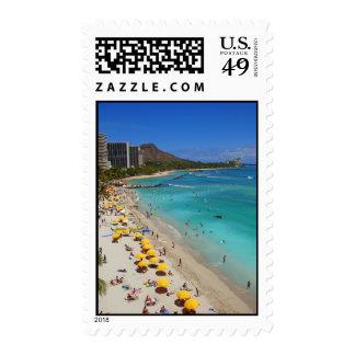 Waikiki Beach Stamp