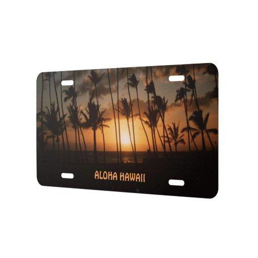 Waikiki Beach Sunset License Plate Zazzle