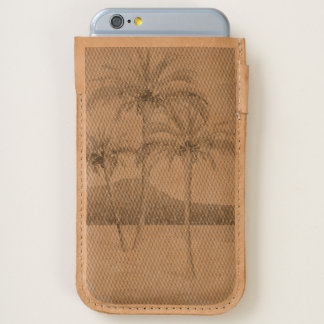 Waikiki Beach Vintage Distressed Postcard Etched iPhone 6/6S Case