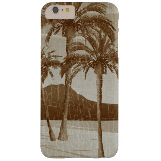 Waikiki Beach Vintage Distressed Sepia Postcard Barely There iPhone 6 Plus Case