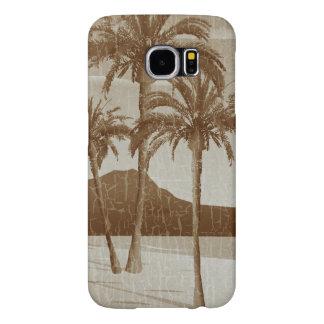 Waikiki Beach Vintage Distressed Sepia Postcard Samsung Galaxy S6 Case