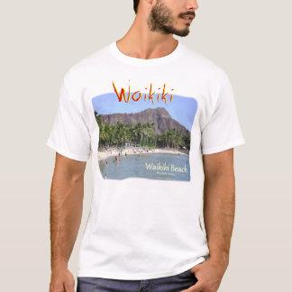 Waikiki Beach with Diamond Head Palm Trees T-Shirt