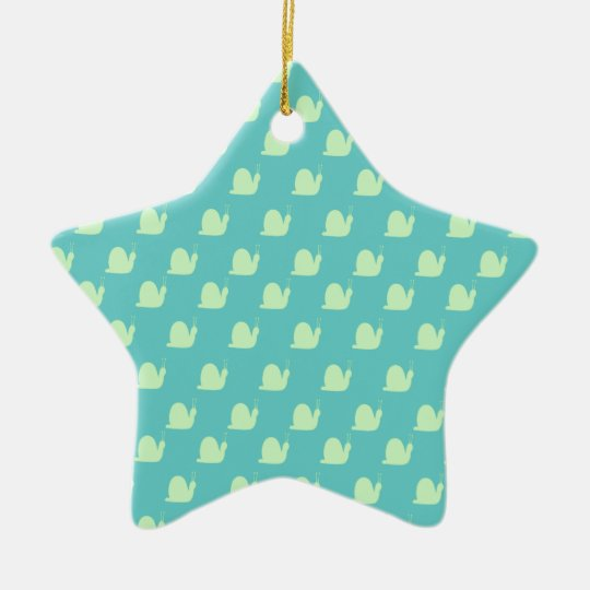 Waikiki Blue and Lime Snails Watson Collection Ceramic Ornament