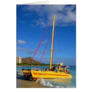 Waikiki Catamaran Card