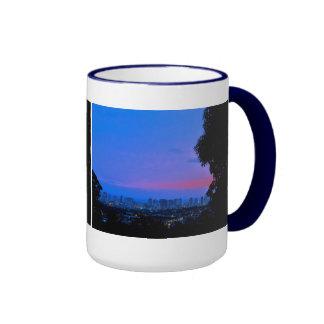 Waikiki Evening Lights Coffee Mug