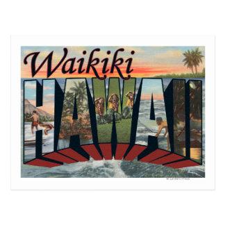 Waikiki, Hawaii - escenas grandes de la letra Postal