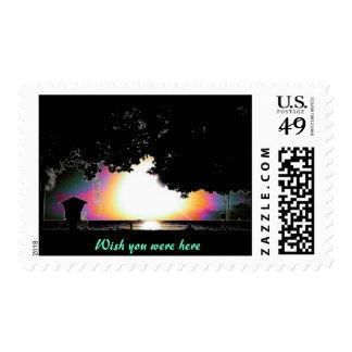 Waikiki, Hawaii, postage  stamp,Wish you were here