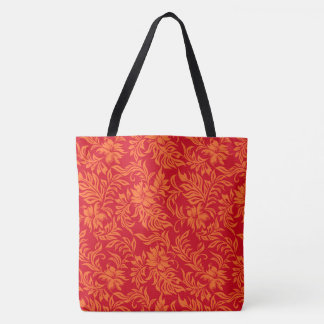 Waikiki Hibiscus Hawaiian Pareau Floral Beach Bag