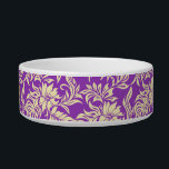 "Waikiki Hibiscus Hawaiian Pet Bowls<br><div class=""desc"">This vintage hibiscus flower textile print was inspired by the aloha shirts of the 40&#39;s and 50&#39;s. Customize the bowl with your pet&#39;s name in English,  Hawaiian or the language of your choice! These designs come in several colorways.</div>"
