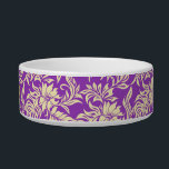 """Waikiki Hibiscus Hawaiian Pet Bowls<br><div class=""""desc"""">This vintage hibiscus flower textile print was inspired by the aloha shirts of the 40&#39;s and 50&#39;s. Customize the bowl with your pet&#39;s name in English,  Hawaiian or the language of your choice! These designs come in several colorways.</div>"""