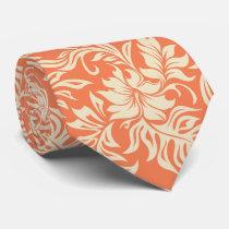 Waikiki Hibiscus Hawaiian Two-sidedPrinted Neck Tie