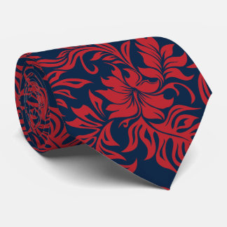 Waikiki Hibiscus Hawaiian Two-sided Printed Tie