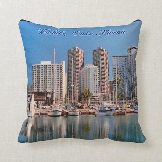 Waikiki Honolulu MoJo Pillow