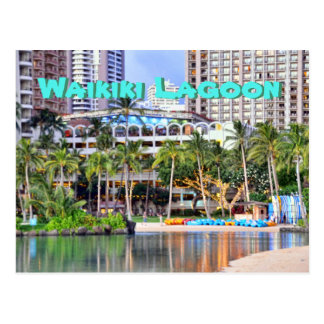 Waikiki Lagoon in Oahu Postcard