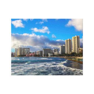 Waikiki Landscape Canvas Print
