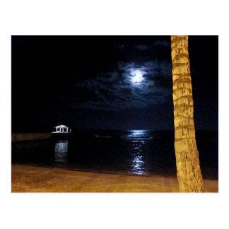 Waikiki Moonrise Postcard