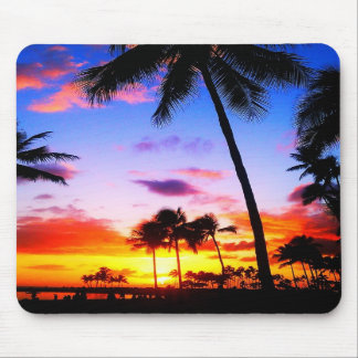 Waikiki Paradise Sunset Mousepad