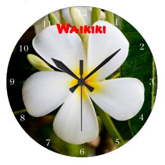Waikiki Plumeria Large Clock